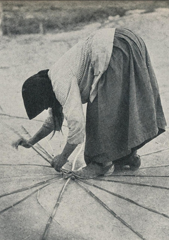 "Cyprus 1928 basket weaving ""Weaving baskets for Famagusta oranges"""